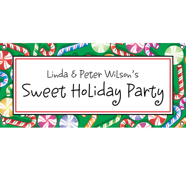 Christmas Candy Theme Banner