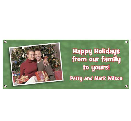 Christmas Photo Theme Banner / Greet your Christmas guests with your smiling faces on this holiday banner