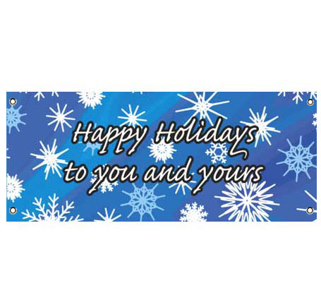 Winter Snow Theme Banner / A winter themed banner with the snow just sparkling!