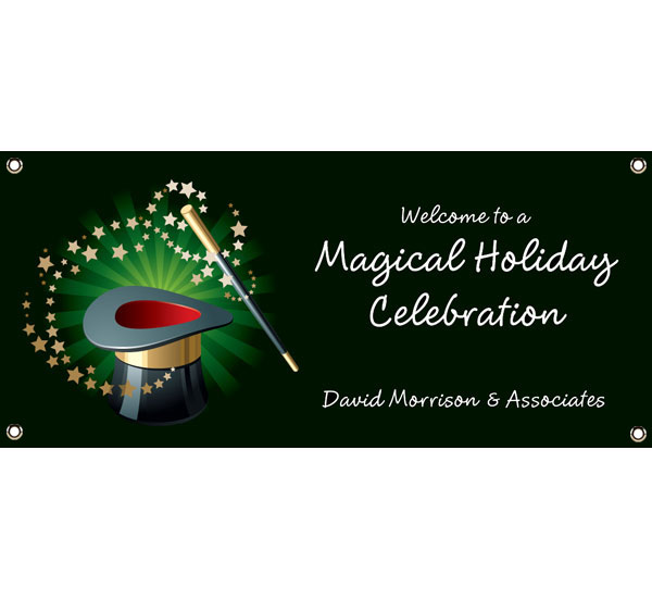 Holiday Magic Theme Banner / A little magic for your during the holiday season with this Magic Holiday Banner.
