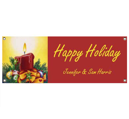 Holiday Lights Theme Banner
