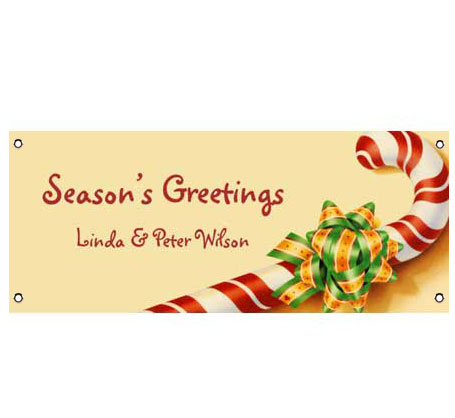 Christmas Candy Cane Theme Banner / Season's greetings are right on this candy cane banner!