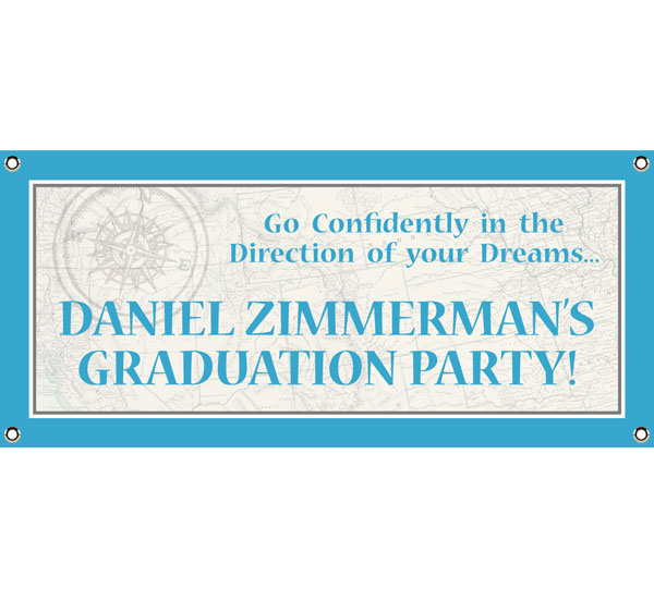 Graduation Travel Theme Banner / A travel theme welcome for your celebration