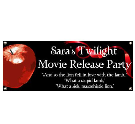 Twilight Theme Banner - Lion and the Lamb Quote / So the lion fell in love with the lamb with this Twilight banner.