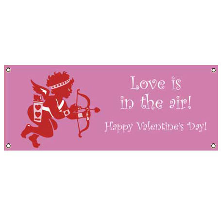 Valentines Day Cupid Banner / Cupid's ready for Valentine's Day with this Valentine's Day banner!