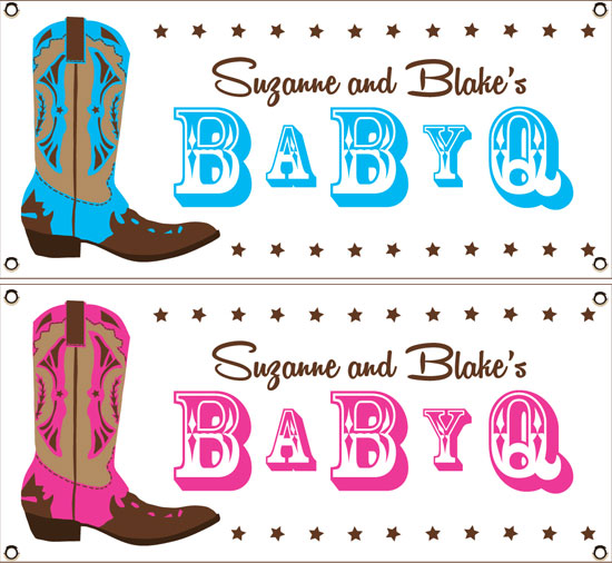 Western Baby Shower Theme Banner / Welcome your guests to your Western baby shower