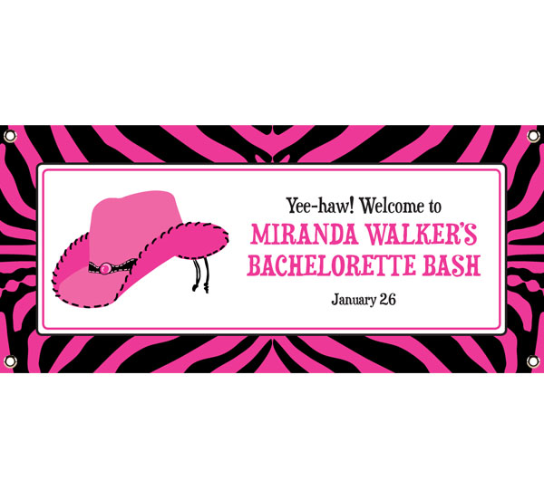 Western Cowgirl Party Banner