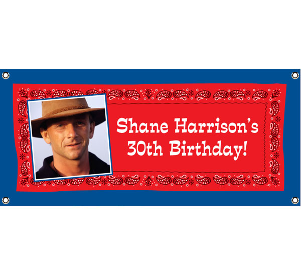 Western Bandana Photo Theme Banner / Great for a Western Themed Party, just add your picture and wording!