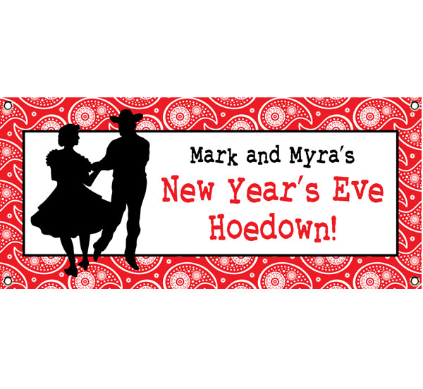 Western Hoedown Theme Banner