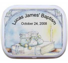 Baby Boy Baptism Mint Tin