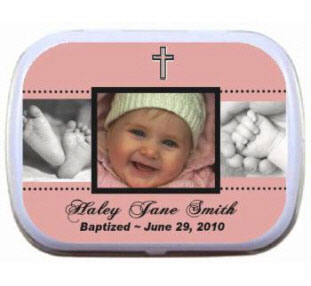 Baptism Photo Mint Tin