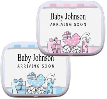 Mint Tin, Baby Carriages Theme / A sweet baby carriage theme party favor