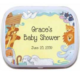 Noahs Ark Baby Shower Mint Tin / A Noah's Ark favor