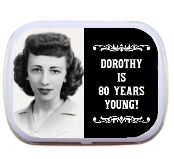 A Vintage Birthday Milestone Photo Mint Tin / Create a one of a kind photo party favor