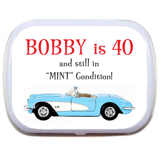 Birthday Car Mint Tin