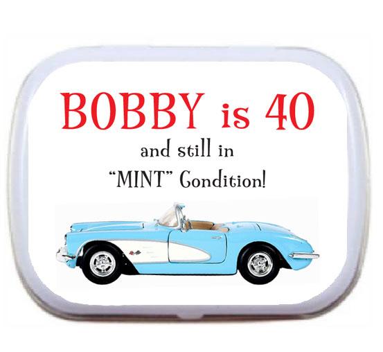 Birthday Car Mint Tin