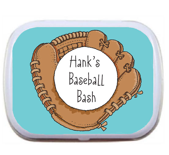 Baseball Mitt Theme Mint Tin
