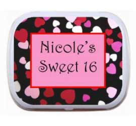 Hearts Theme Mint Tin / Perfect for a sweet party