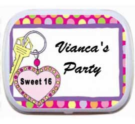 Sweet 16 Birthday Mint Tin, Car Keys