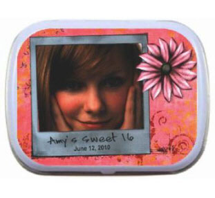 Photo Birthday Mint Tin / A great photo favor for a birthday