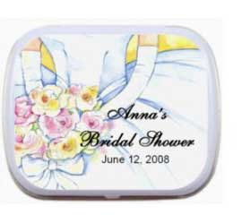 Mint Tin, Bridal Shower Wedding Dress