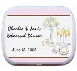 Mint Tin, Bridal Shower Placesetting