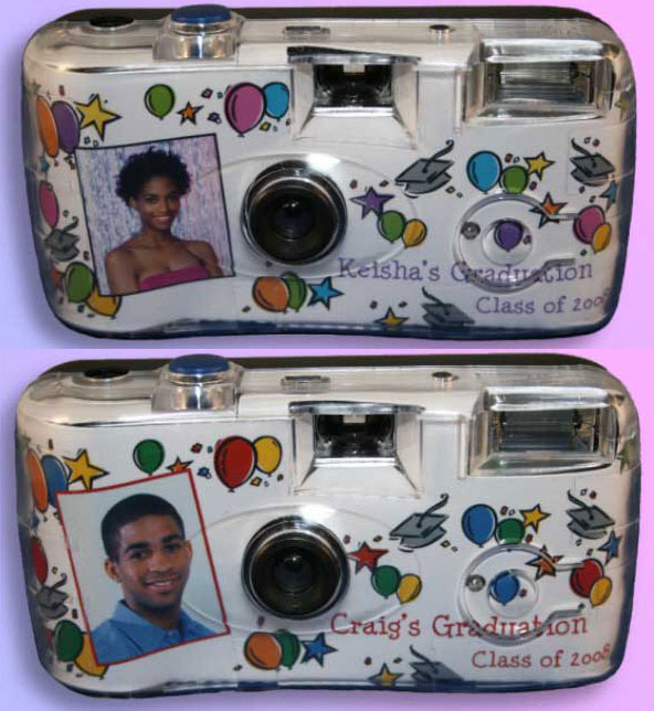 Graduation Balloons Theme Camera / Choose your color scheme on this graduation camera