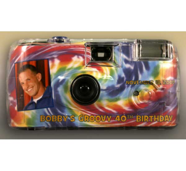 Hippie Tie Dye Theme Camera / Take a few pictures of all your hip guests