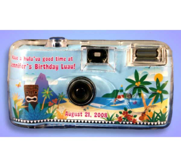Luau Beach Theme Camera