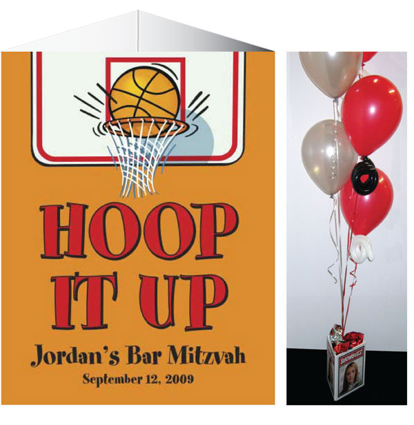 Basketball Centerpiece / Three-sided centerpiece for your 3 point shooter!