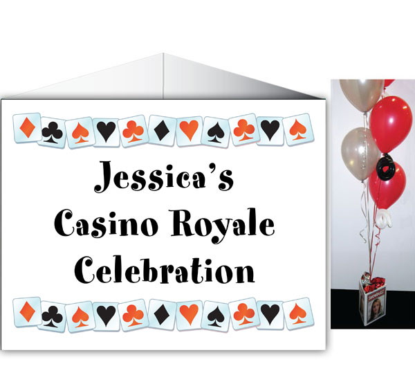 A Casino Party Theme Centerpiece