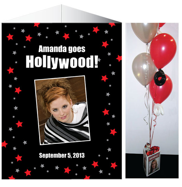 Hollywood Centerpiece / Give your table a touch of Hollywood with this theme centerpiece