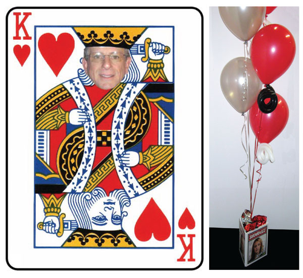 Casino, King Of Hearts Centerpiece / Add your photo to this King of Hearts centerpiece