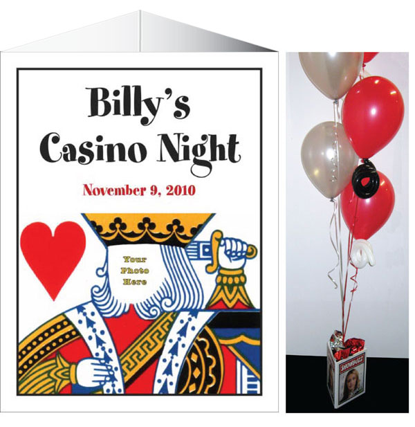 Casino Theme King of Hearts Centerpiece / A casino theme centerpiece