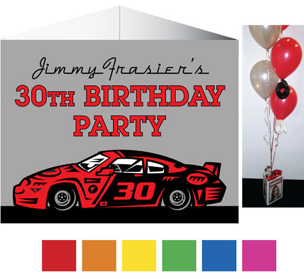 Race Car Party Theme Centerpiece