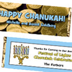 Custom Chanukah Candy Bar Wrappers and Chocolate