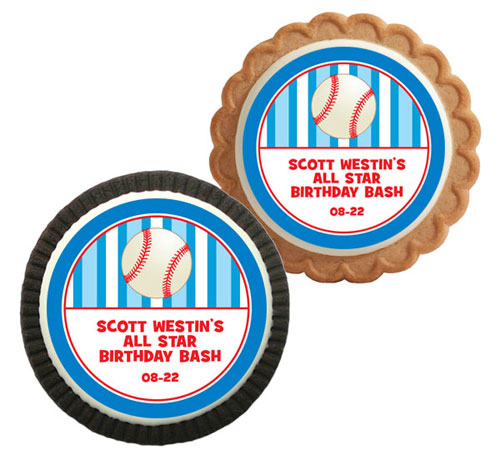 Custom Baseball Theme Custom Cookie