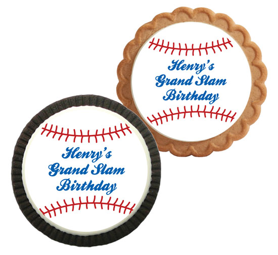 Baseball Theme Custom Cookie
