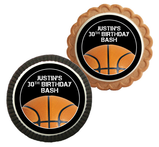 Basketball Party Theme Custom Cookie