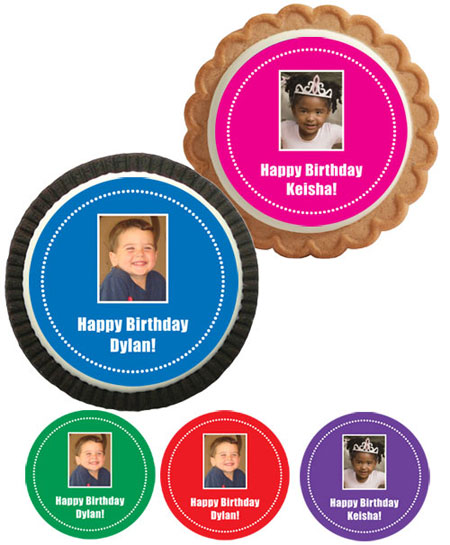 Birthday Photo Custom Cookies / Add your child's face to a cookie!