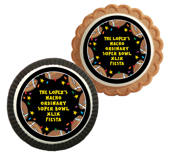 Super Bowl Fiesta Theme Custom Cookie