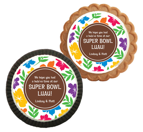 Super Bowl Luau Theme Custom Cookie / A great luau theme cookie party favor