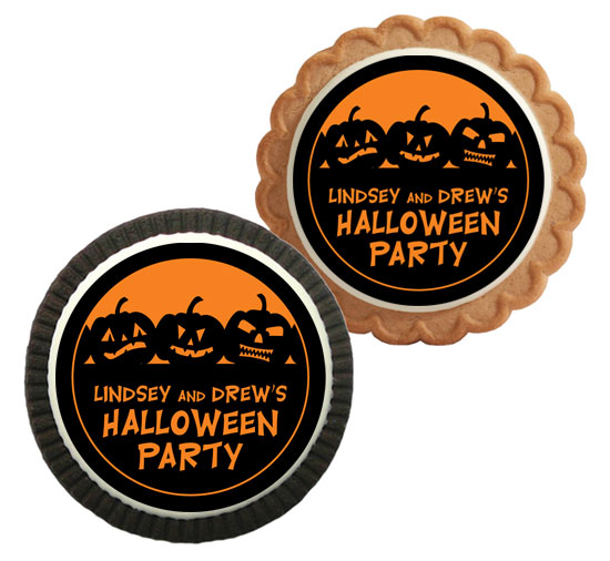 Halloween Jack o Lanterns Theme Custom Cookie