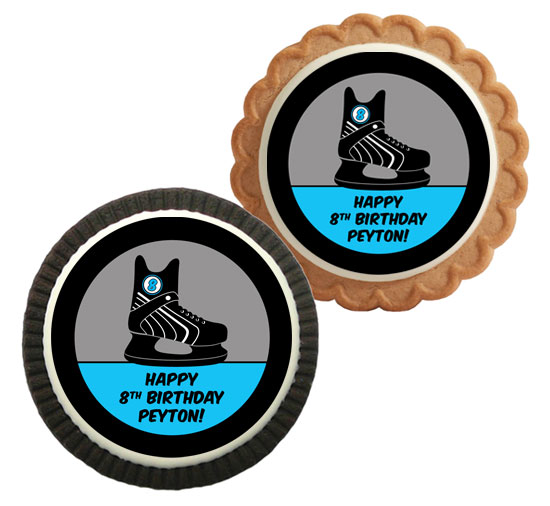 Hockey Theme Custom Cookie