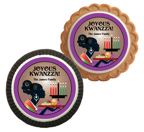 Kwanzaa Celebration Theme Custom Cookie
