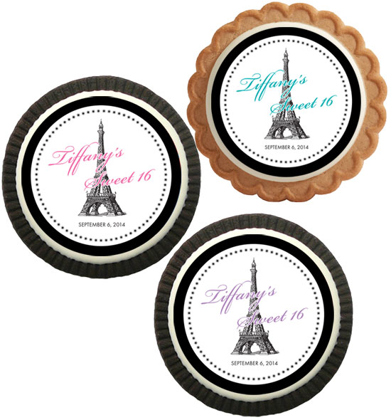 Paris Party Theme Custom Cookie / These cookies will be a great addition to your Paris theme party