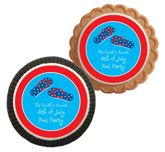 Patriotic Flip Flops Theme Cookies