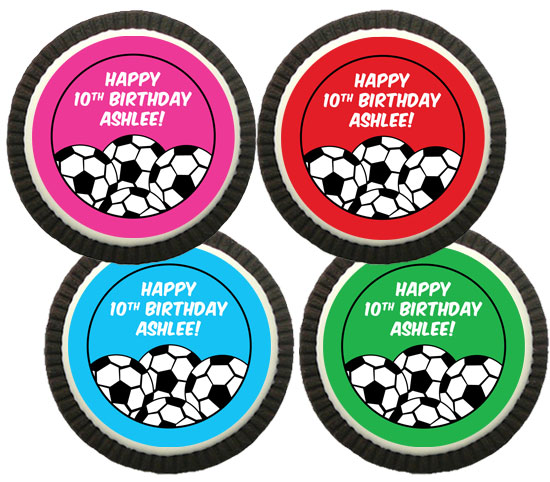 Soccer Girl Theme Custom Cookie