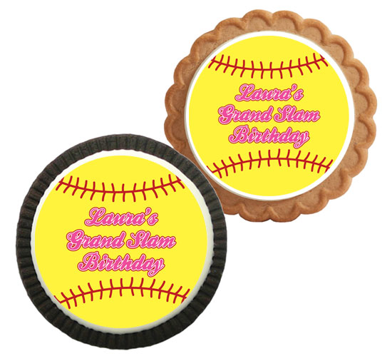 Softball Theme Custom Cookie