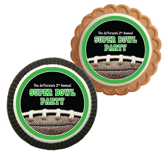 Football Party Theme Custom Cookie